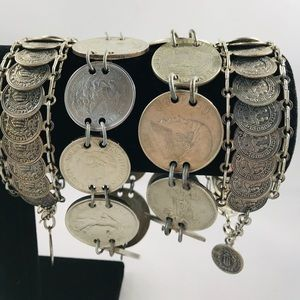 Bundle of Vintage Coin Bracelets!